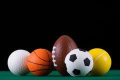Billes miniaturisées de sport   image stock