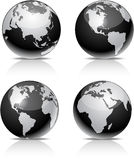 Billes noires de la terre. Photographie stock