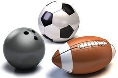 Billes pour des sports d'équipe Photo libre de droits