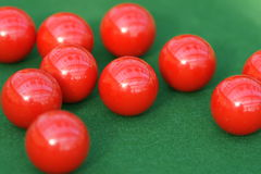 Billes rouges de billard Photographie stock