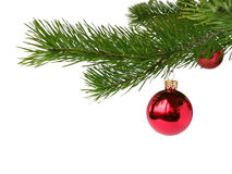 Billes rouges de Noël Photos libres de droits