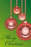 Billes rouges s'arrêtantes de Noël Image stock