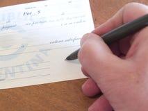 Billet à ordre signé Photographie stock libre de droits