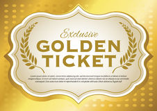 Billet d'or Image libre de droits