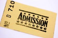Billet d'admission Image stock