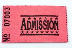 Billet d'admission Photos libres de droits