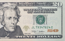 20 billet d'un dollar Image libre de droits