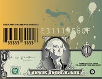 Billet d'un dollar abstrait   Image stock