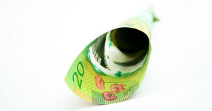 20 billet d'un dollar canadiens Photographie stock libre de droits