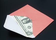 Billet d'un dollar dans l'enveloppe Photos stock