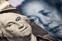 Billet d'un dollar et un yuan chinois Photo libre de droits