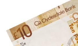 Billet de banque écossais, 10 livres Images libres de droits