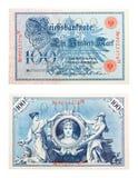 Billet de banque allemand de 1908 Images libres de droits