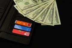 Billet de banque canadien américain 100 des dollars d'argent image stock