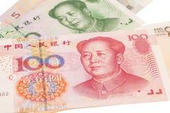 Billet de banque chinois de yuans d'argent Images libres de droits