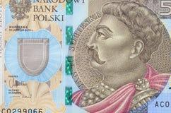 Billet de banque de cinq zloties de hunderd Images libres de droits