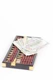 Billet de banque d'abaque et de dollar Images libres de droits
