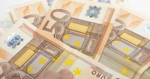 billet de banque de 50 euro Photographie stock