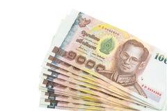 Billet de banque de baht thaïlandais Images stock