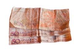 Billet de banque de Brasilia de 50 novos de cruzados photographie stock libre de droits