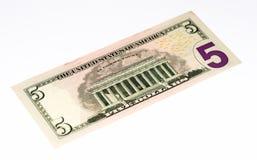 Billet de banque de currancy des Etats-Unis Image libre de droits