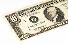 Billet de banque de currancy des Etats-Unis Photos libres de droits