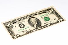 Billet de banque de devise des Etats-Unis Photos libres de droits