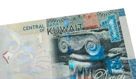 1 billet de banque de dinar koweitien Images libres de droits