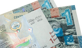 1 billet de banque de dinar koweitien Image libre de droits