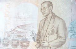 Billet de banque de King de photographe, Thaïlande Images stock