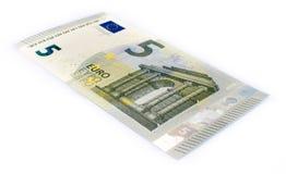Billet de banque de l'euro cinq Photo libre de droits