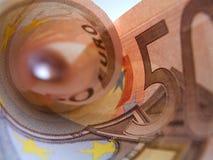 Billet de banque de l'euro cinquante Images libres de droits
