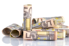 Billet de banque de l'euro cinquante Image libre de droits