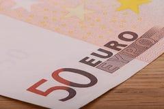 Billet de banque de l'euro cinquante Photographie stock