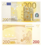 Billet de banque de l'euro deux cents Photo stock
