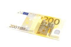 Billet de banque de l'euro deux cents Image stock