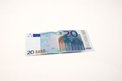 Billet de banque de l'euro vingt Photos stock