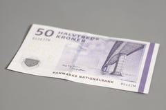 billet de banque de la couronne 50 danoise Images libres de droits