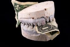 Billet de banque de prise de mâchoires Image libre de droits
