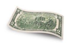 Billet de banque des deux dollars Image libre de droits
