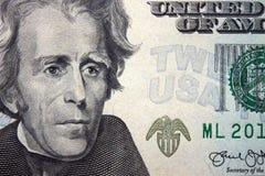 Billet de banque des vingt dollars Photos libres de droits