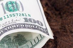 Billet de banque du dollar sur le sol Photographie stock