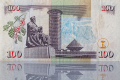 Billet de banque du Kenya Photo libre de droits