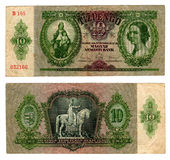 Billet de banque hongrois de vintage à partir de 1936 Photo stock