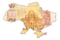 billet de banque de hryvnia de 2 Ukrainiens dans la forme de l'ukrain photo stock