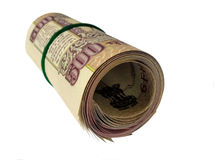 Billet de banque-INR indienne 500 fois Images libres de droits