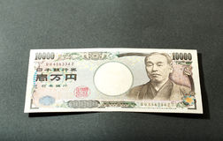 Billet de banque japonais 10000 Yens Photo stock
