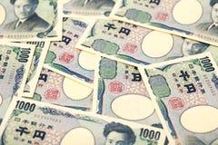 Billet de banque japonais 1000 Yens Images libres de droits