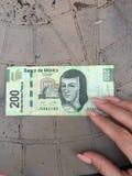 Billet de banque de peso mexicain images libres de droits