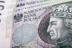 Billet de banque 100 PLN Photo libre de droits